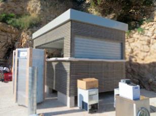 Туалеты с кассой для городских парков и аттракционов